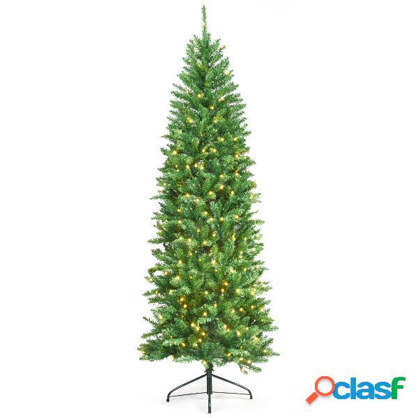 Costway 2 1m Árbol de Navidad Iluminado con 995 Ramas 350