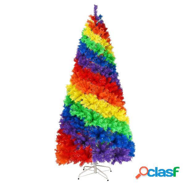 Costway 2 1m Árbol de Navidad con 1213 Ramas Base Sólida