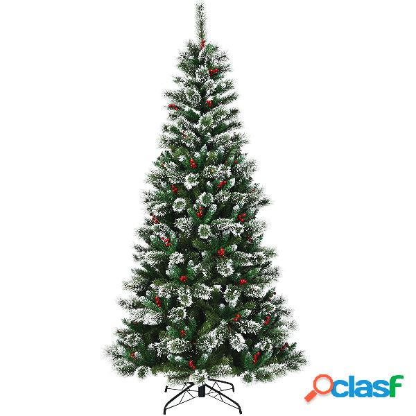 Costway 2 4m Árbol de Navidad Nevado y No Iluminado Fácil