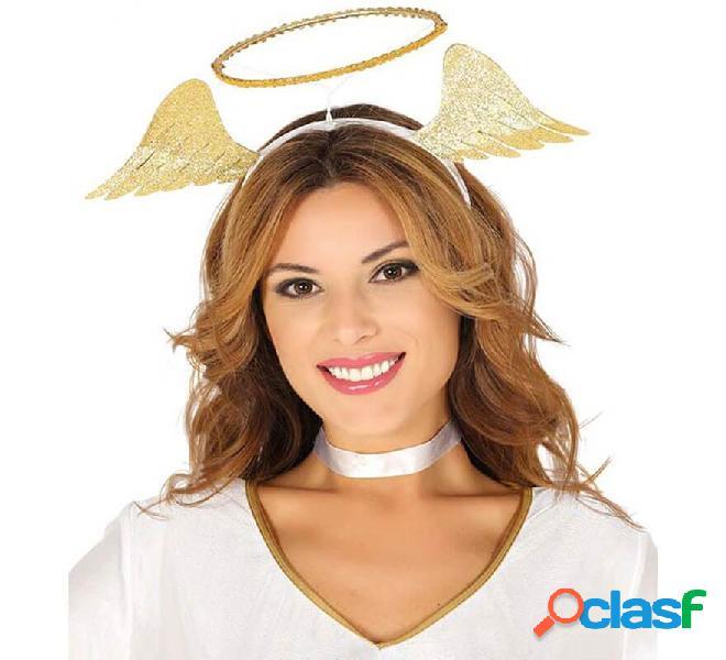 Diadema de Ángel con Alas y Halo