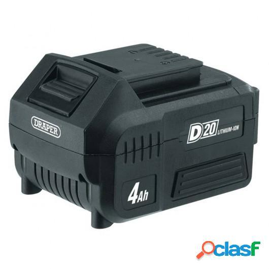 Draper Tools Batería de iones de litio D20 4 Ah 20 V