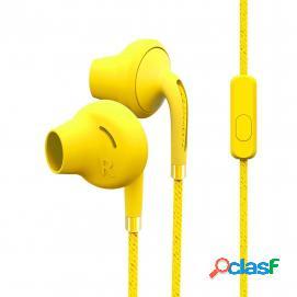 Energy Sistem Style 2+ Auriculares con Micrófono Amarillos