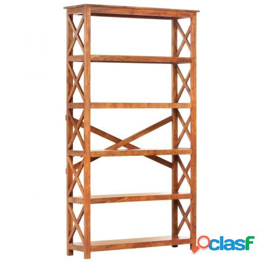 Estantería de madera maciza acabado de sheesham 100x30x180