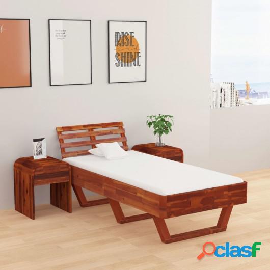 Estructura de cama de madera maciza de acacia 100x200 cm