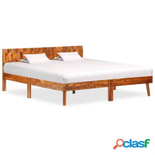 Estructura de cama de madera maciza de sheesham 160x200 cm