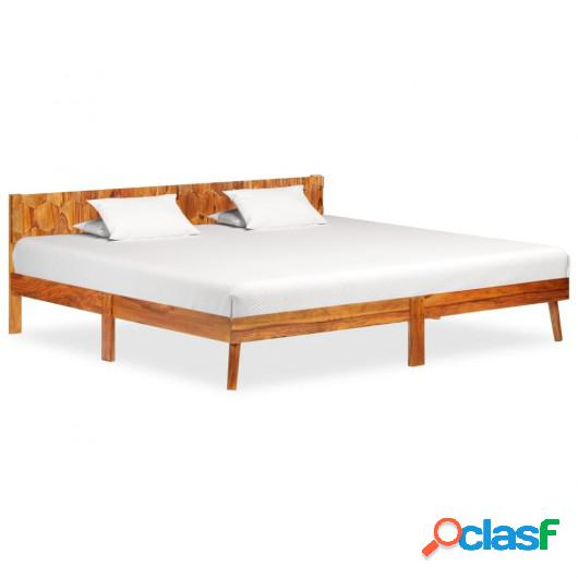 Estructura de cama de madera maciza de sheesham 200x200 cm