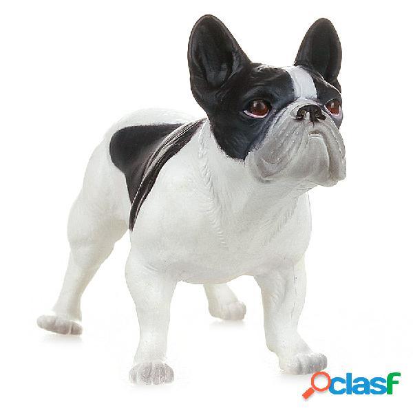 Figura Perro Bulldog Francés Blanco Y Negro - Papo
