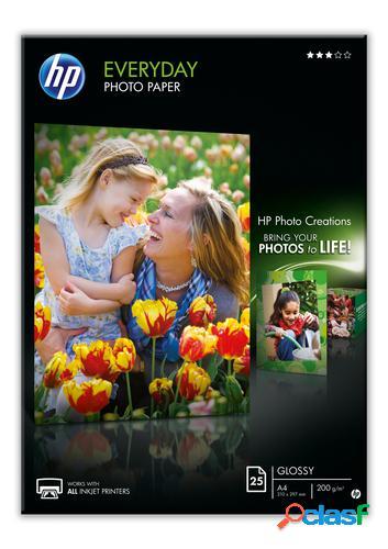 HP Q5451A papel fotográfico Negro, Azul, Blanco Semi-brillo
