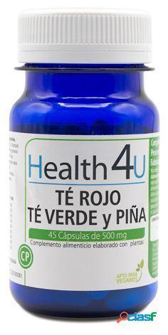 Health 4U Té Rojo, Té Verde y Piña 45 Cápsulas de 500 mg