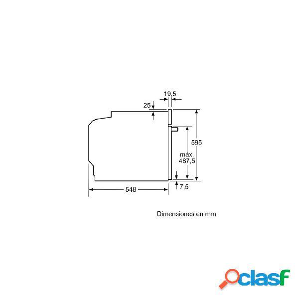Horno Multifunción - Bosch HBA574BR00 Eficiencia A Acero