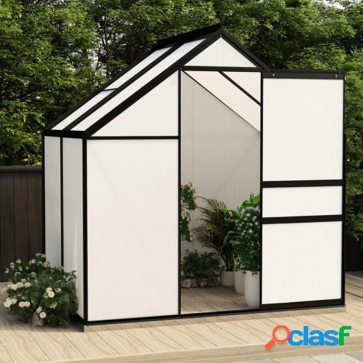 Invernadero de aluminio gris antracita 2,47 m²