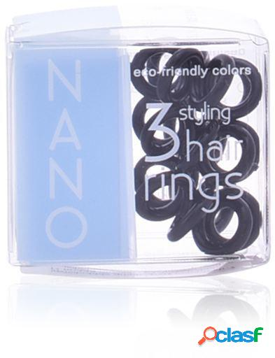 Invisibobble Nano True Black Hair Rings 3 uds