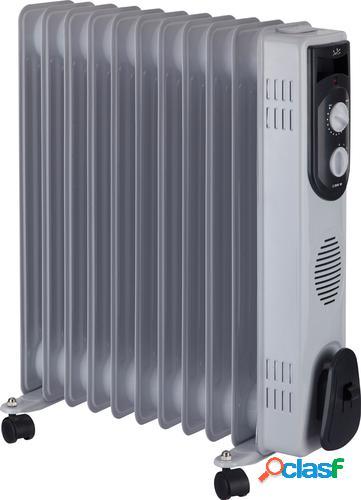 JATA R111 Radiador de aceite eléctrico Interior Gris 2500 W