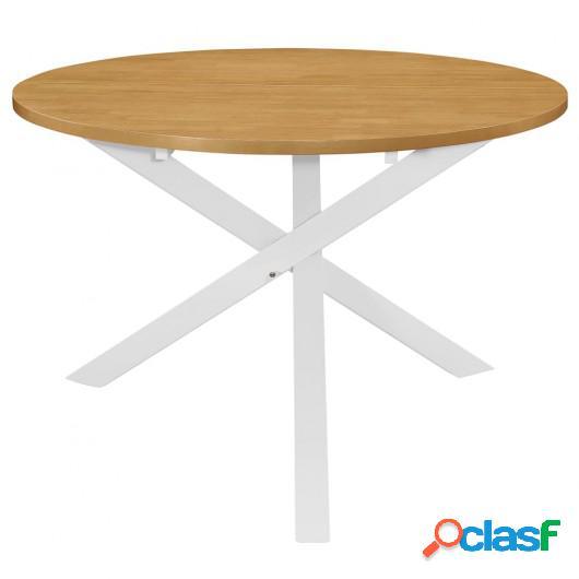Juego de muebles de comedor 5 piezas MDF blanco