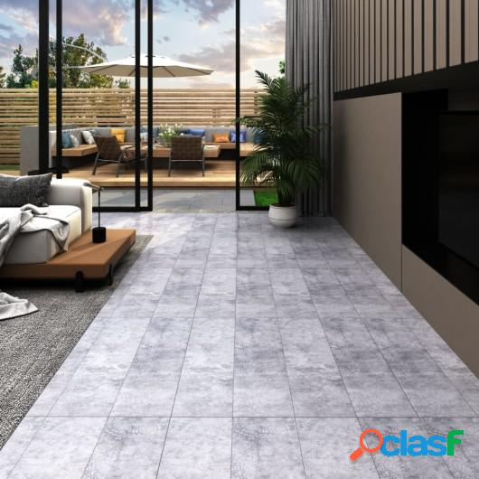 Lamas para suelo de PVC autoadhesivas gris cemento 5,02 m²