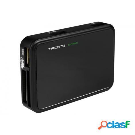 Lector Memorias Tacens Anima 85 EN 1 + HUB USB 2P USB 2.0 +