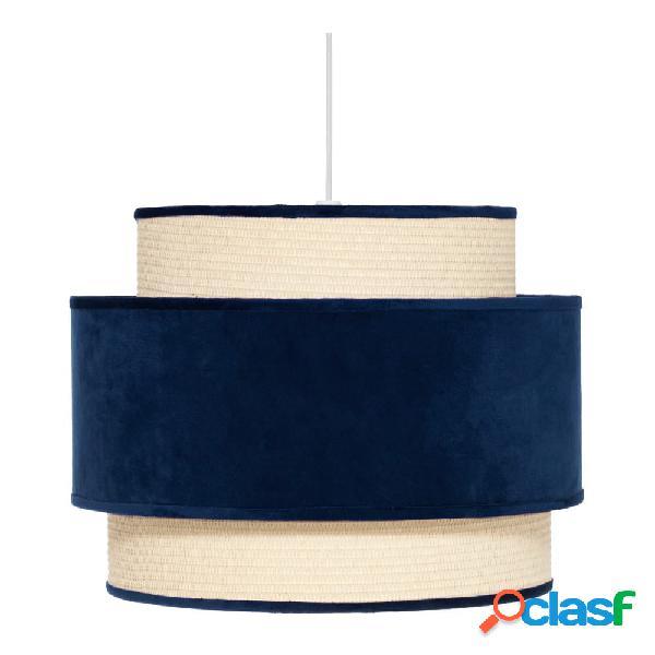 Lámpara de techo terciopelo azul