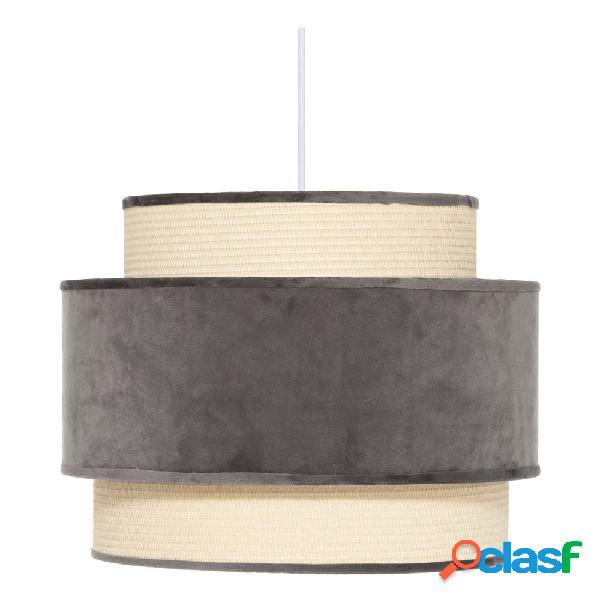 Lámpara de techo terciopelo gris