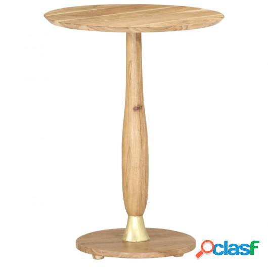 Mesa auxiliar de madera maciza de acacia 45 cm