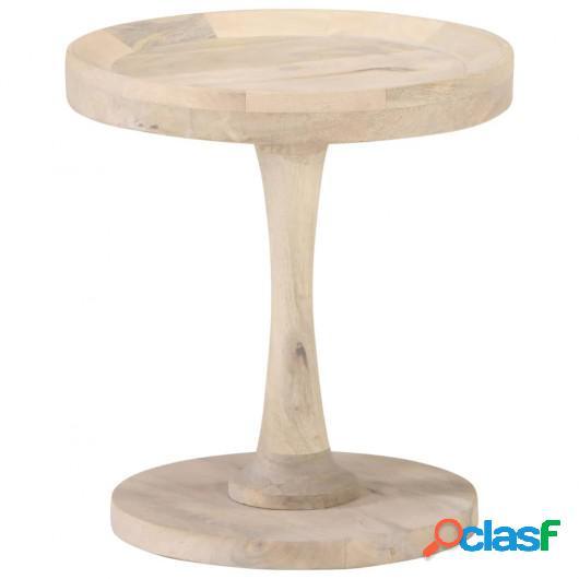 Mesa auxiliar de madera maciza de mango Ø40x45 cm