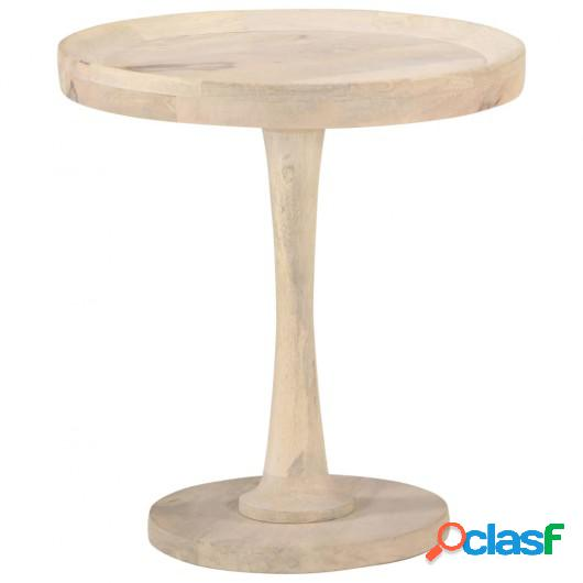 Mesa auxiliar de madera maciza de mango Ø50x55 cm