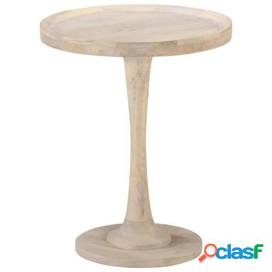 Mesa auxiliar de madera maciza de mango Ø60x75 cm