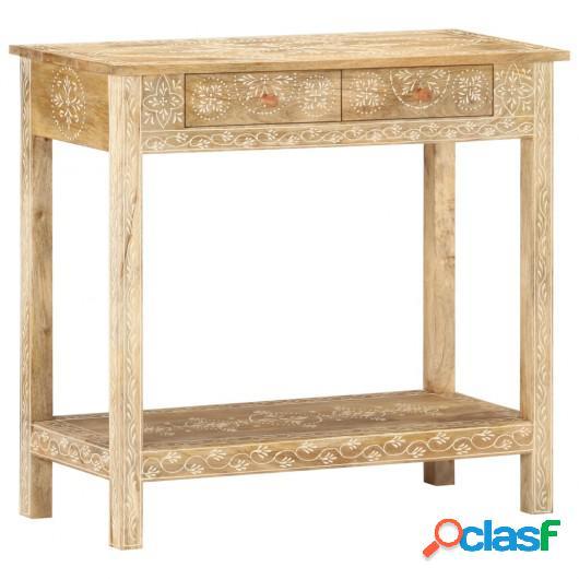 Mesa consola de madera maciza de mango 80x35x74 cm
