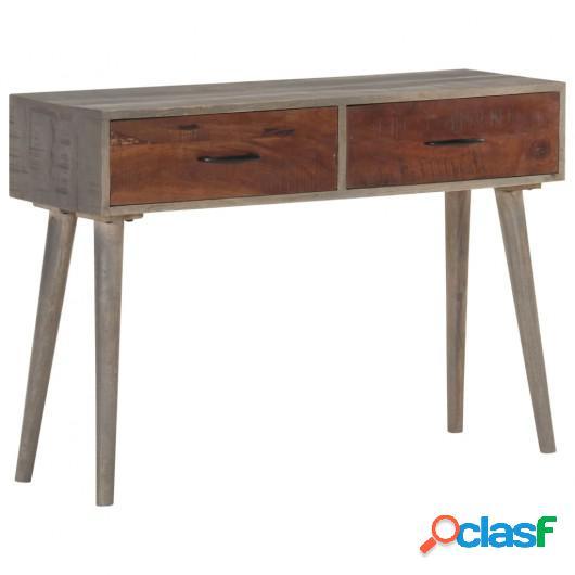 Mesa consola de madera maciza de mango gris 110x35x75 cm