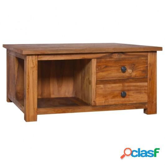 Mesa de centro de madera de teca maciza 68x68x33 cm