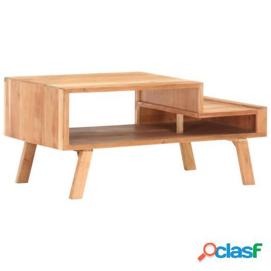 Mesa de centro de madera maciza de acacia 100x50x45 cm