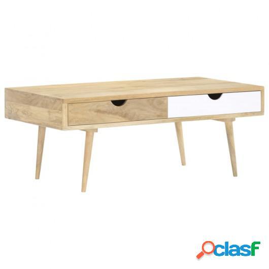 Mesa de centro de madera maciza de mango 117x55x45 cm