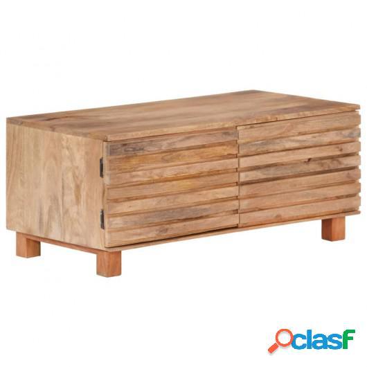 Mesa de centro de madera maciza de mango 90x50x40 cm