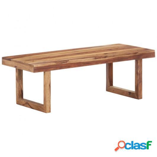 Mesa de centro de madera maciza de sheesham 100x50x35 cm