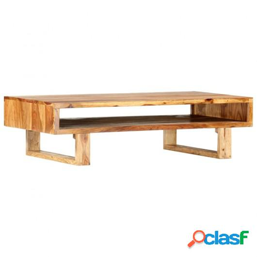 Mesa de centro de madera maciza de sheesham 110x55x30 cm