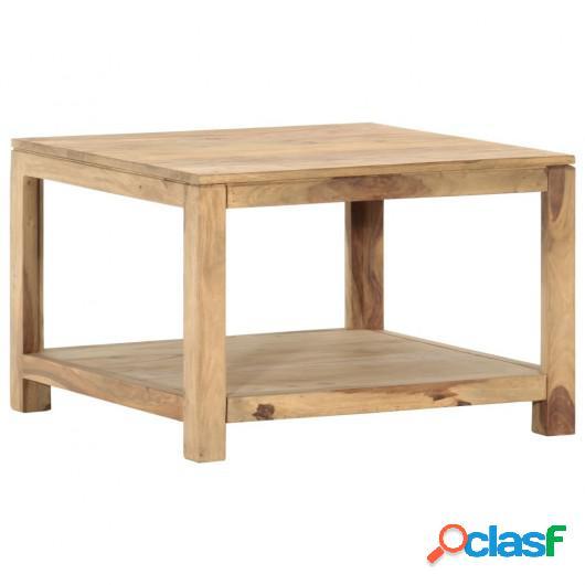 Mesa de centro de madera maciza de sheesham 68x68x45 cm