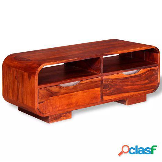 Mesa de centro de madera maciza de sheesham 90x40x35 cm