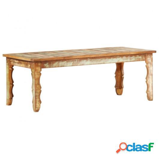 Mesa de centro de madera maciza reciclada 110x50x40 cm