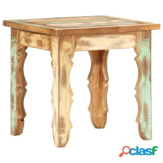 Mesa de centro de madera maciza reciclada 40x40x40 cm