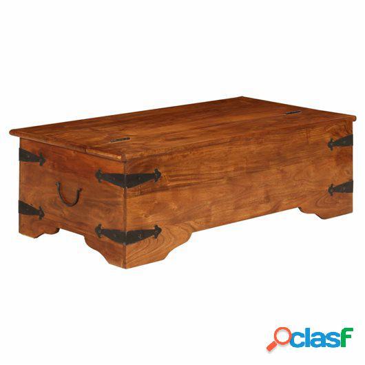 Mesa de centro madera maciza acabado de sheesham 120x60x40