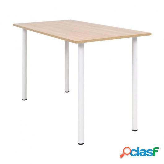 Mesa de comedor 120x60x73 cm color roble y blanco