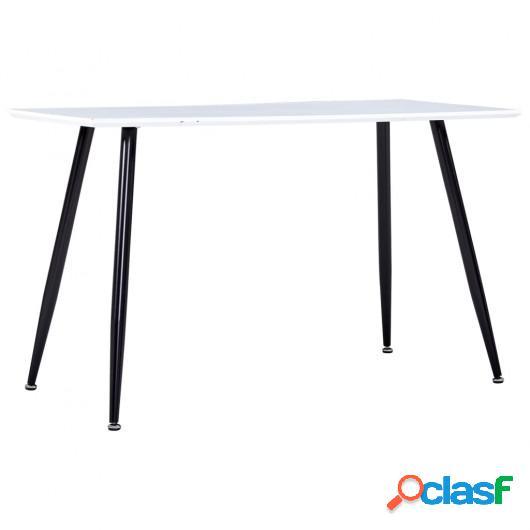 Mesa de comedor MDF blanco y negro 120x60x74 cm