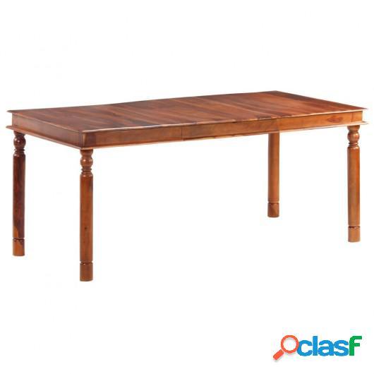 Mesa de comedor de madera maciza de sheesham 180x90x76 cm
