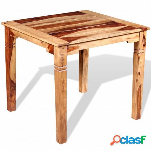 Mesa de comedor de madera maciza de sheesham 82x80x76 cm