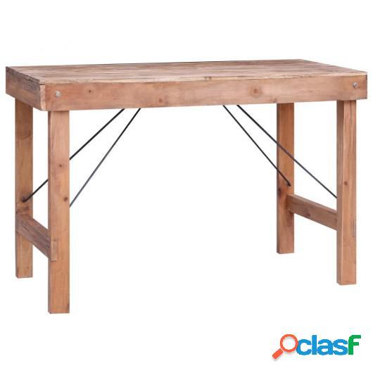 Mesa de comedor de madera maciza reciclada 120x60x80 cm