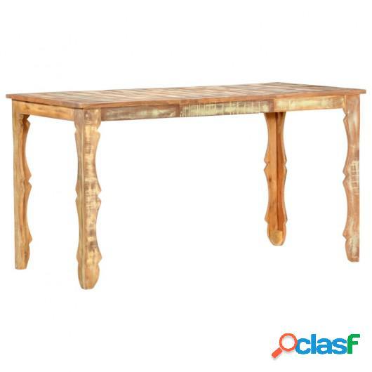 Mesa de comedor de madera maciza reciclada 140x70x76 cm