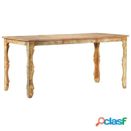 Mesa de comedor de madera maciza reciclada 160x80x76 cm