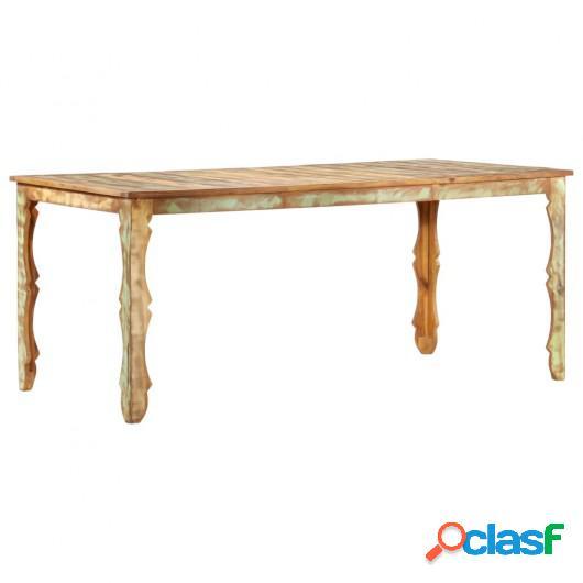 Mesa de comedor de madera maciza reciclada 180x90x76 cm