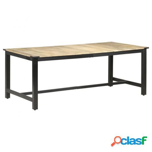 Mesa de comedor madera maciza de mango en bruto 200x100x76