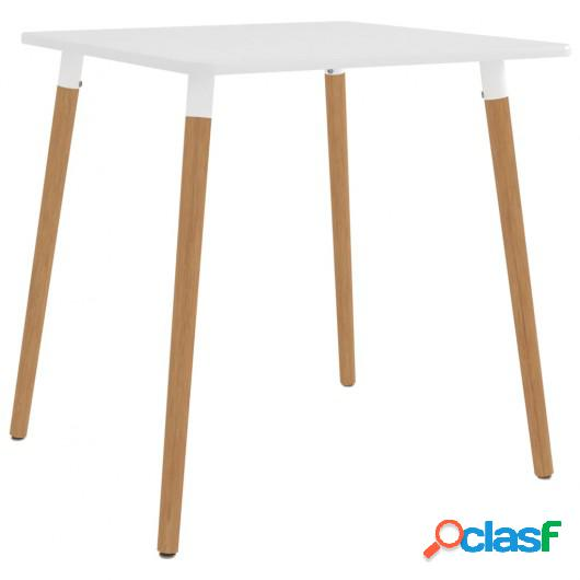 Mesa de comedor metal blanco 80x80x75 cm