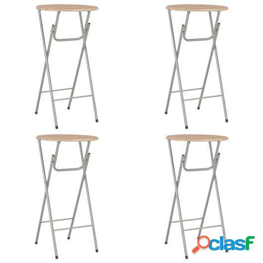 Mesas altas de cocina 4 unidades MDF color roble 60x112 cm